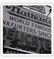 Coney Island, Nathan's Famous Sticker