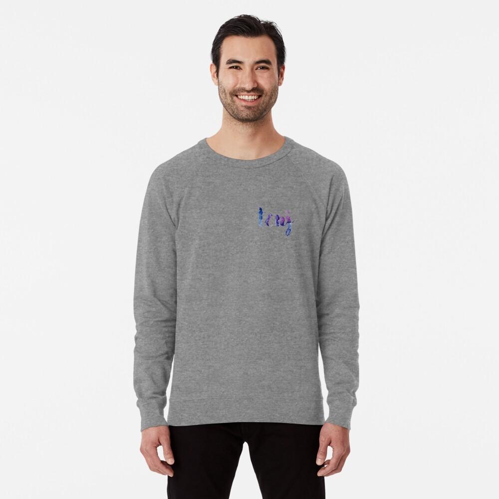 TCNJ sticker: dark blue and purple  Lightweight Sweatshirt