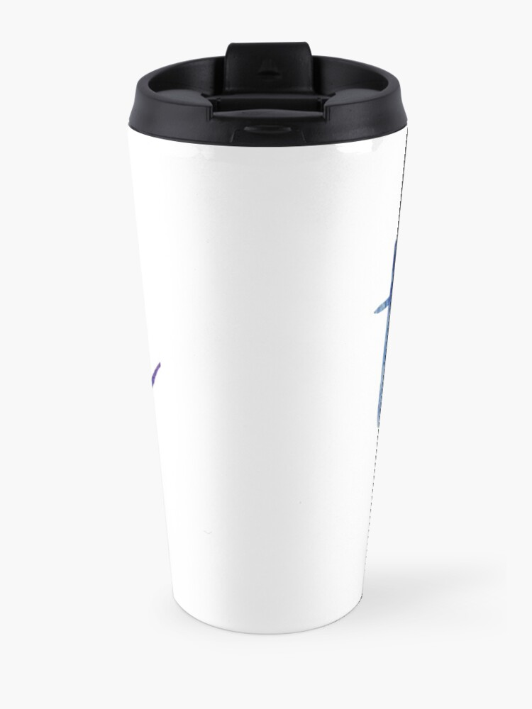Alternate view of TCNJ sticker: dark blue and purple  Travel Mug
