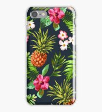 Floral Pinapple Wallpaper iPhone Case/Skin