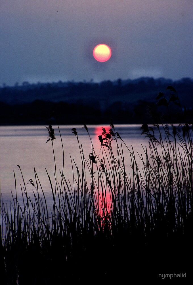sunset over chew valley lake by nymphalid