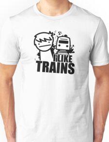 ASDF T-Shirt I Like Trains  Unisex T-Shirt