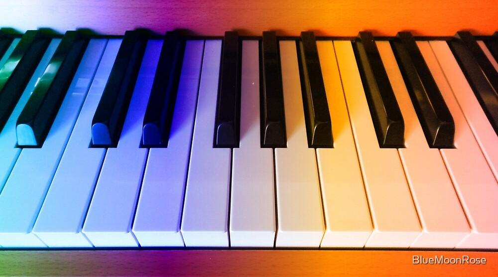 Regenbogen-Klaviertasten von BlueMoonRose