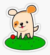 Playful Dog. Sticker