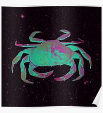 Starry Cancer Crab Poster