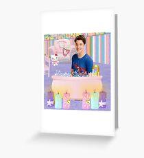 Freddie in the Bathtub Greeting Card