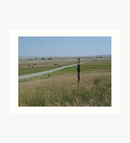 Little Pump on the Prairie Art Print