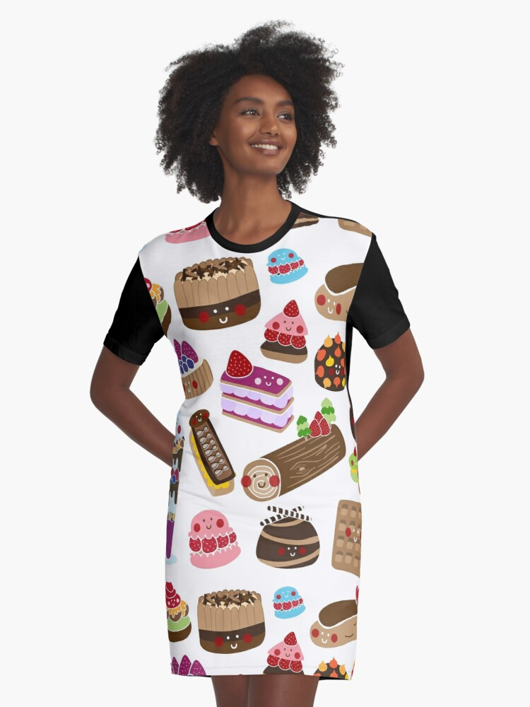 Sweet tooth Graphic T-Shirt Dress Front