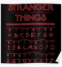 Stranger Things Alphabet Logo Poster