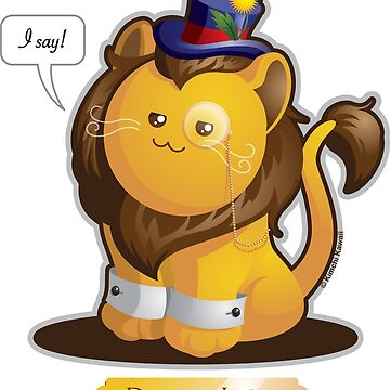 Kawaii Dandy Lion Pun by kimchikawaii