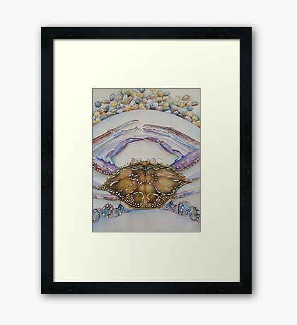 Blue Swimmer Dinner 'Still Life' © Patricia Vannucci 2008 Framed Print