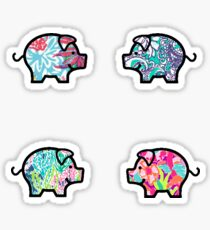 Pegatina Cute Patterned, Walking Piglets Pack de 4