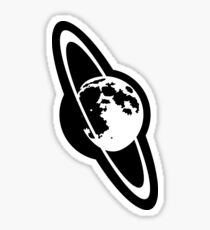 Moon with Rings Sticker