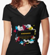 WINEMAKER Women's Fitted V-Neck T-Shirt