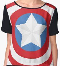 The Captain Shield Women's Chiffon Top