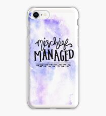 mischief managed watercolor iPhone Case/Skin