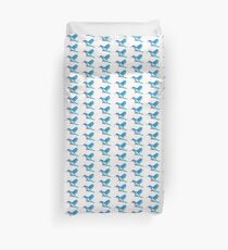 Blue Hummingbird Duvet Cover