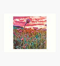 Wildflower Field - Digital Painting Art Print