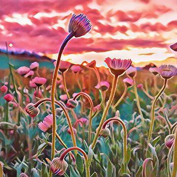 Wildflower Field - Digital Painting by RachelTilley