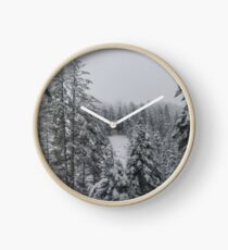 Snowy Day in the Mountains  Clock