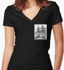 Mad Max Fury Road in dots Women's Fitted V-Neck T-Shirt