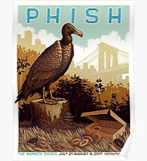 Phish July 21- august 6 2017 Madison Square Garden New York NY Poster