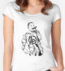 Chester Bennington Singing Women's Fitted Scoop T-Shirt