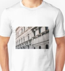 White classical Italian building with decorations  T-Shirt