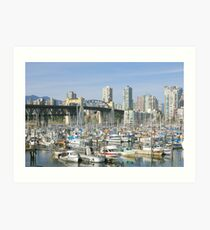 View From Granville Island Art Print