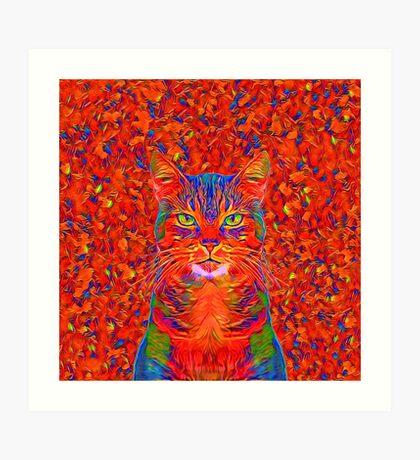 Red Cat Art Print