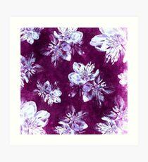 Purple Bohemian Floral Pattern Art Print