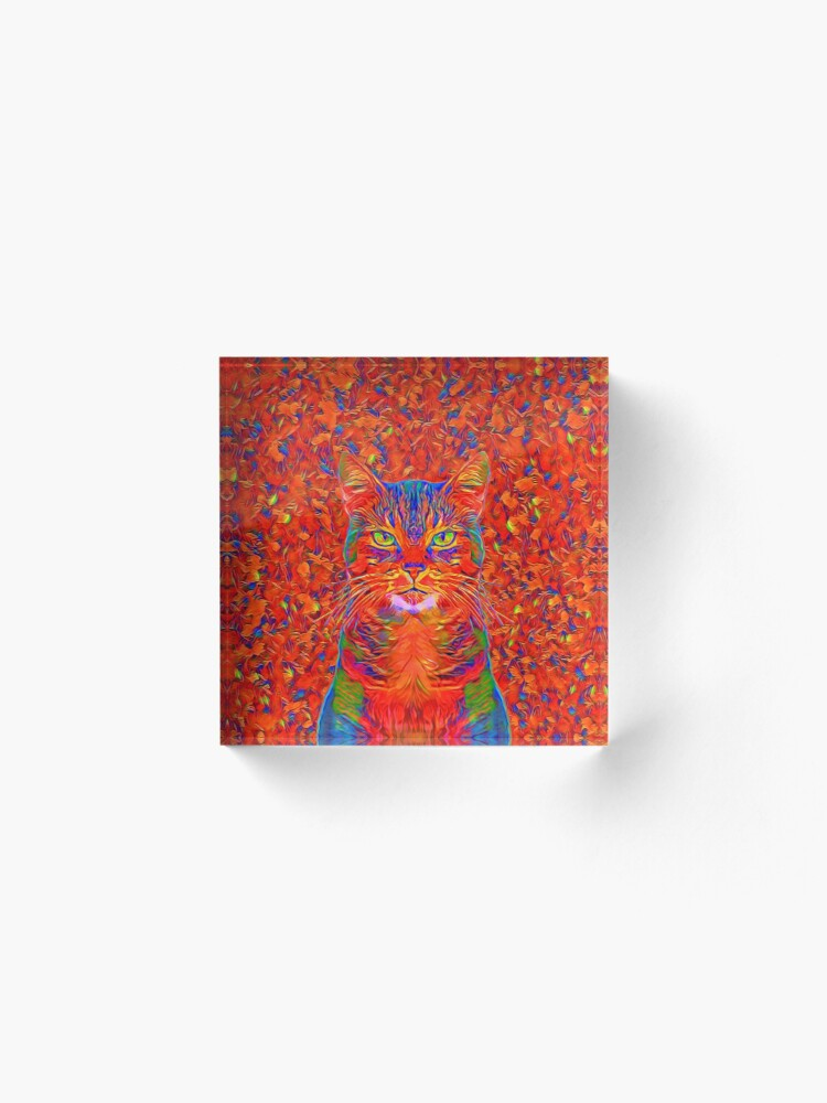 Alternate view of Red Cat Acrylic Block