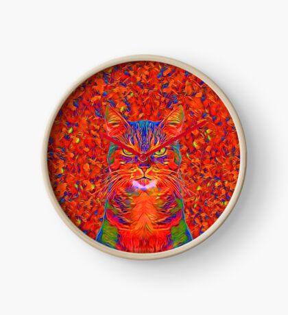 Red Cat Clock