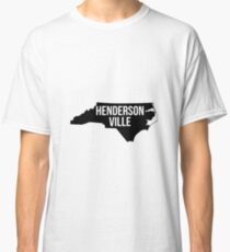 Hendersonville, North Carolina Silhouette Classic T-Shirt