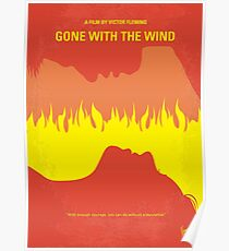 No299- Gone With the Wind minimal movie poster Poster