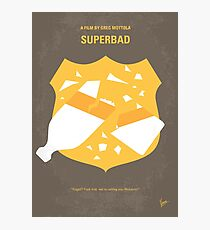 No315- Superbad minimal movie poster Photographic Print