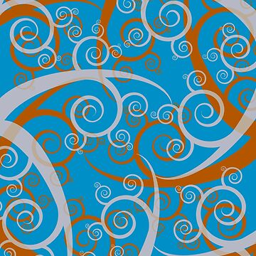 Blue Swirl Pattern by illustrateme