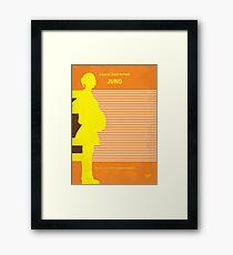 No326- JUNO minimal movie poster Framed Print