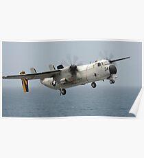 Ein C-2A Greyhound im Flug. Poster