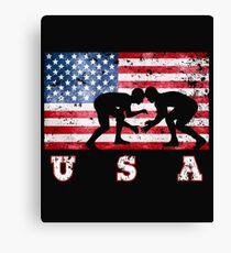 USA Wrestling Canvas Print