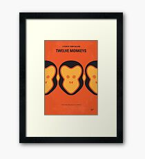 No355- 12 MONKEYS minimal movie poster Framed Print