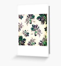 Hint of Green Colorado Columbine Pattern Greeting Card