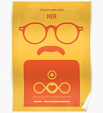 No372- HER minimal movie poster Poster