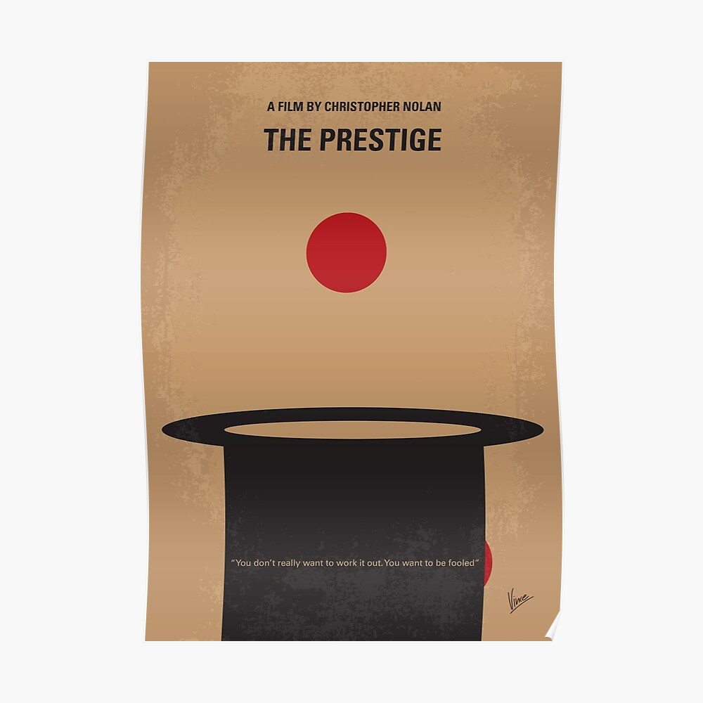 No381- Das minimale Filmplakat der Prestige Poster