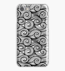Black & White Waves iPhone Case/Skin