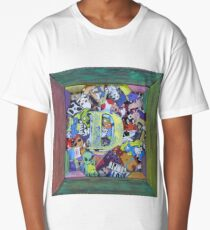 D2 Personalized Sticker Collage Rainbow Fun Long T-Shirt