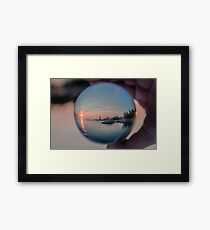 Annisquam sunset though a Crystal Ball Framed Print