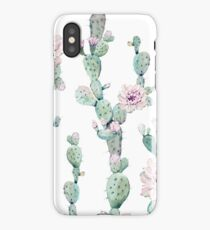 Trendy Cactus Pink White and Mint Green Desert Cacti Home Decor Pattern iPhone Case/Skin
