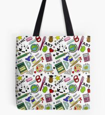 Back To School Supplies Doodle Art Tote Bag