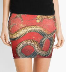 Hokusai, DRAGON, Katsushika Hokusai, Japan, Japanese, Wood block, print Mini Skirt